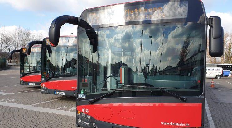Die Rheinbahn informiert ihre Kundinnen und Kunden. Foto: André Volkmann