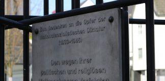 Am Koburg-Mahnmal am unteren Lavalplatz wird NS-Opfern gedacht. Foto: André Volkmann