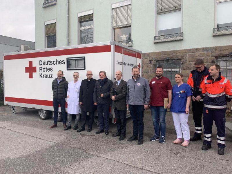 Unter Mitwirkung des EVK Mettmann, des DRK, der Malteser und der Kassenärztlichen Vereinigung wurde eine Diagnosestelle eingerichtet. Foto: Kreis ME