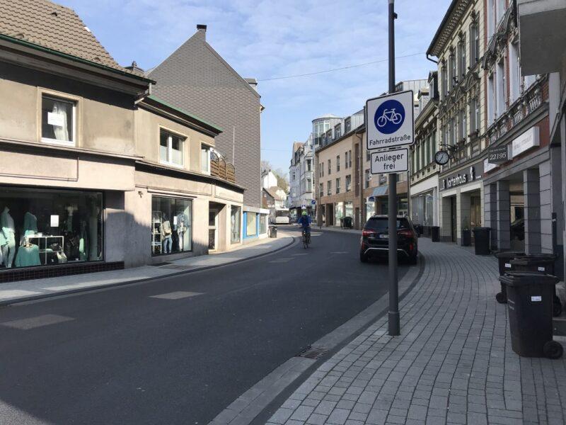 Die Fahrradstraße ist vorrangig dem Radverkehr vorbehalten. Archivfoto: Kreisstadt Mettmann