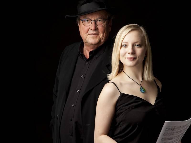 Lutz Görner (Sprache) und Nadia Singer (Klavier) gastieren in Ratingen. Bildrechte: Künstler