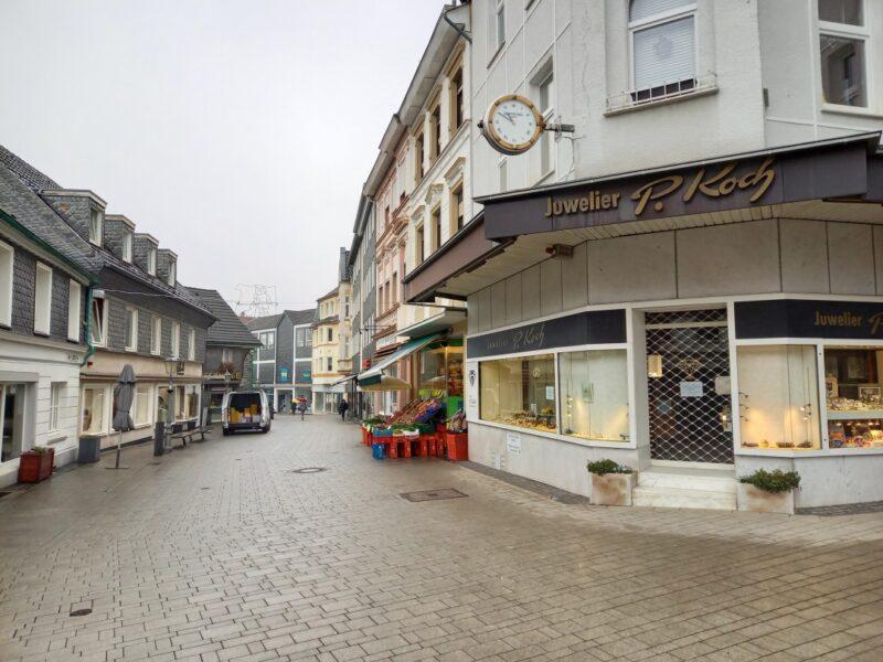 Die Fußgängerzone in Wülfrath. Wie soll sich die Stadt entwickeln? Darum geht es in einer