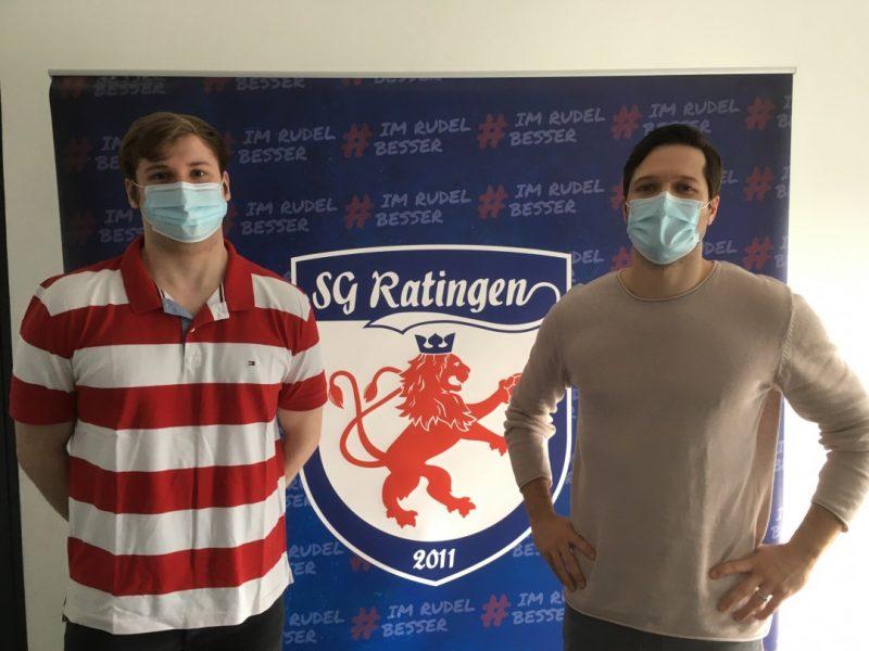 Freuen sich auf die Saison: Torhüter Sebastian Büttner und SG-Geschäftsführer Bastian Schlierkamp. Foto: SG Ratingen