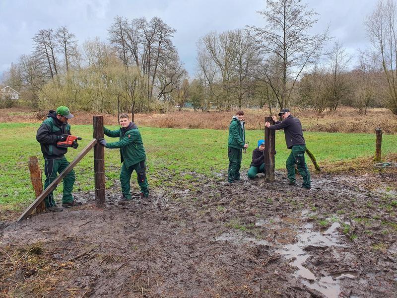 Unter anderem die Instandhaltung der Zäune gehört zu den Aufgaben im Rahmen eines Freiwilligen Ökologischen Jahres (FÖJ). Foto: Kreis ME