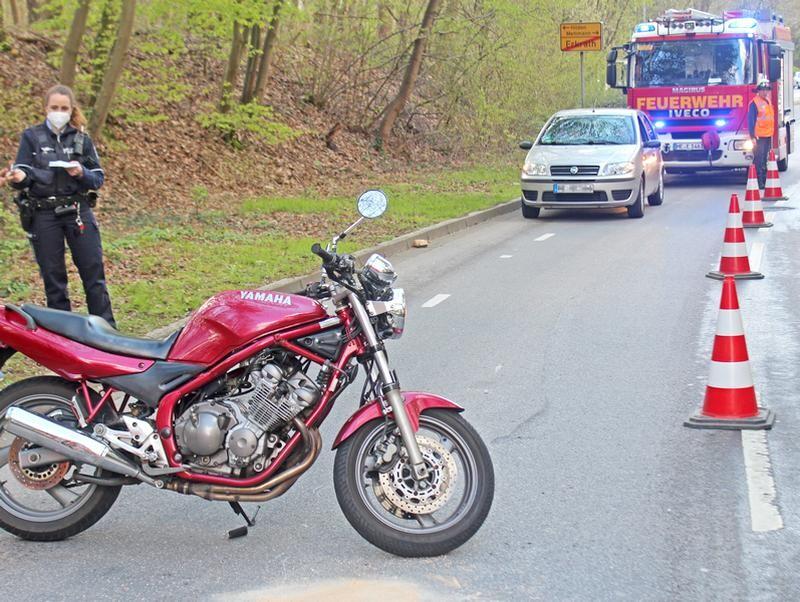 Der Unfall ereignete sich an der Sandheider Straße in Erkrath-Hochdahl. Foto: Polizei
