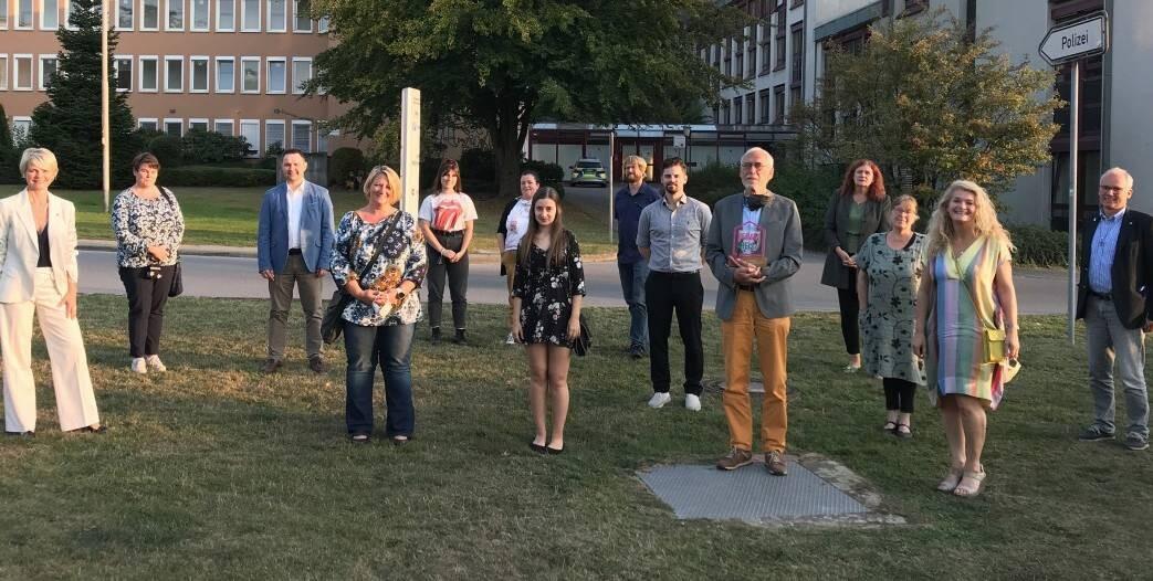 Heimatpreis: Im vergangenen Jahr entstand dieses Gruppenfoto mit allen ausgezeichneten Engagierten. Foto: Stadt Wülfrath