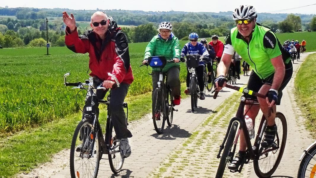Bei schönem Wetter zog es im vergangenen Jahr zahlreiche Teilnehmende auf die Radwege. Foto: RV Edelweiß