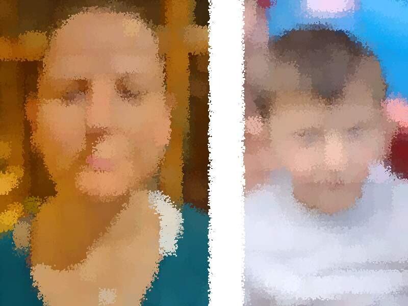 Die Polizei fahndet öffentlich nach einer vermissten Mutter und ihrem Sohn. Fotos (verfremdet): Polizei