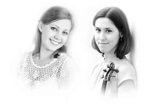 Violinistin Anna Trukhina (r.) und ihre Klavierbegleiterin Violina Perychenko treten in der Dorfkirche auf. Foto: Veranstalter