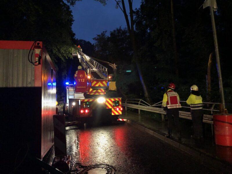 Umgeknickte Bäume riefen die Wehr auf den Plan. Foto: Feuerwehr Heiligenhaus