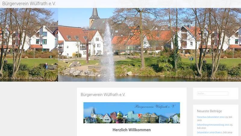 Der Bürgerverein hat seine Webseite überarbeitet. Screenshot: Volkmann