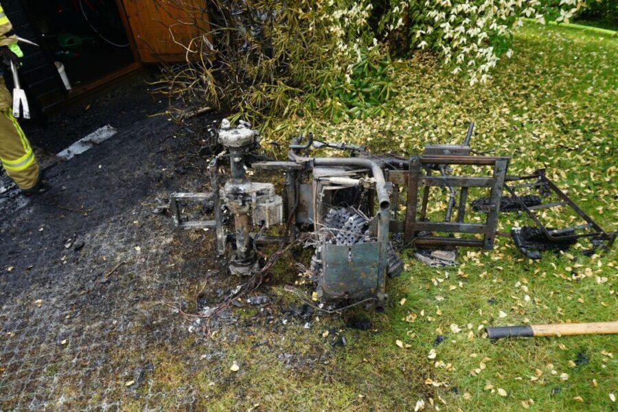 Ein technischer Defekt an einem Seniorenmobil löste ersten Erkenntnissen zufolge einen Brand aus. Foto: Feuerwehr Ratingen