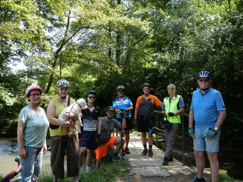 Teilnehmende der Radtour anlässlich des Jubiläums den Panorama-Radwegs. Foto: ADFC