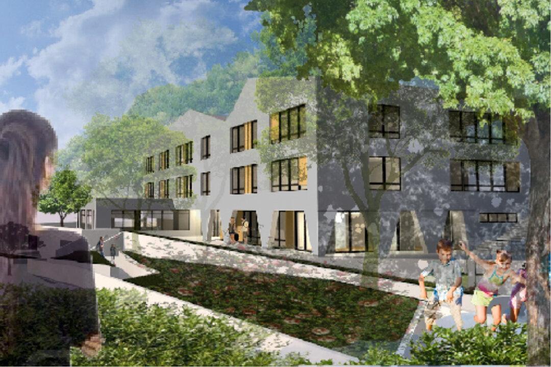 So soll die neue Grundschule an der Bleibergquelle einmal aussehen. Visualisierung: Architekturbüro Fette
