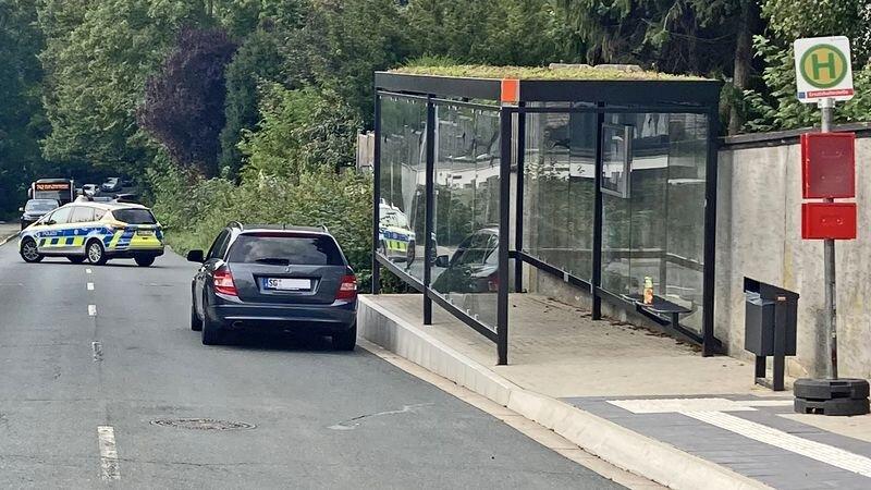 Im Bereich der Bushaltestelle an der Einmündung zur Adlerstraße kam es zu dem Unfall. Foto: Polizei